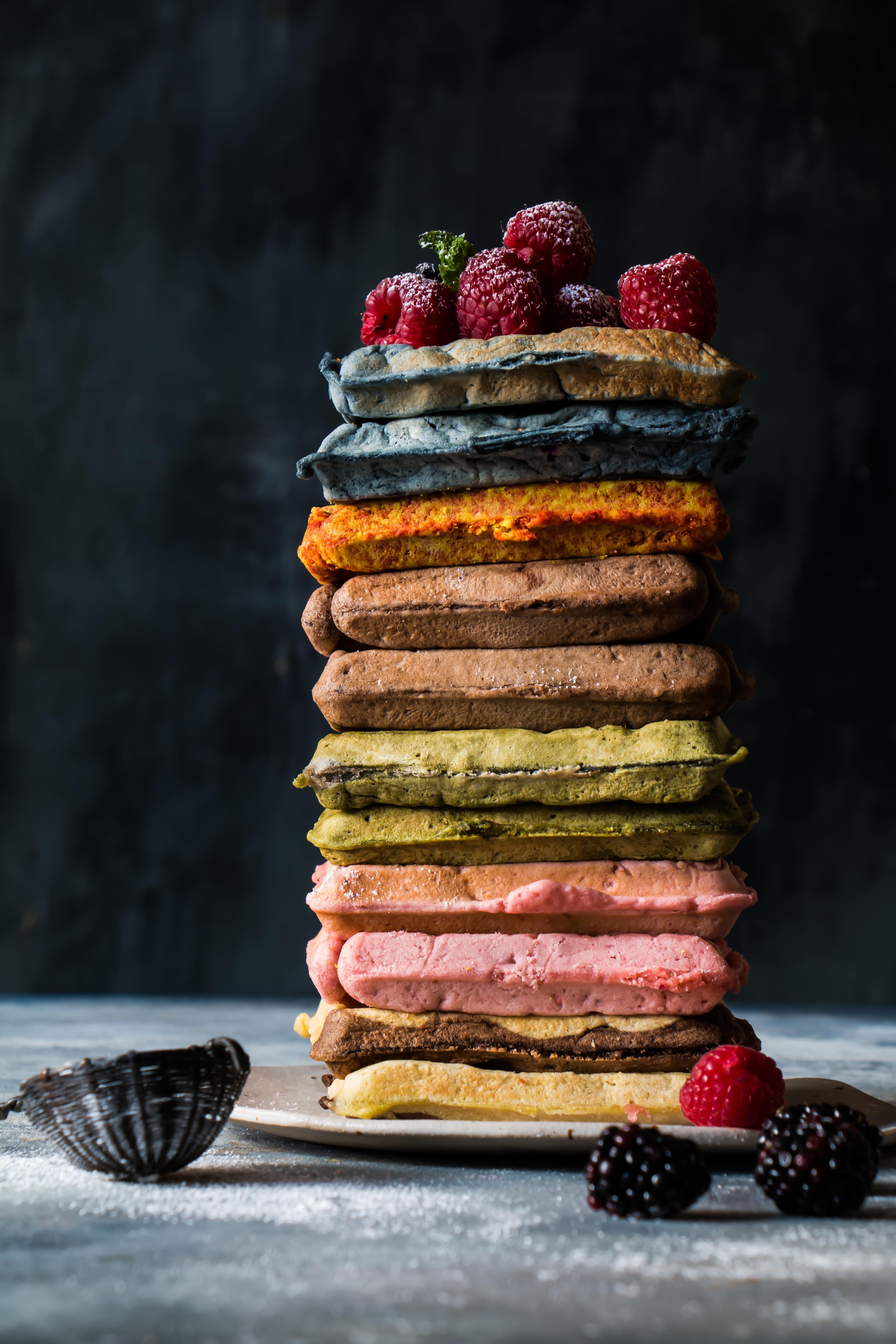 Fruity Belgian Waffles/ Natural flavored Waffles/Belgian Waffles |foodfashionparty|