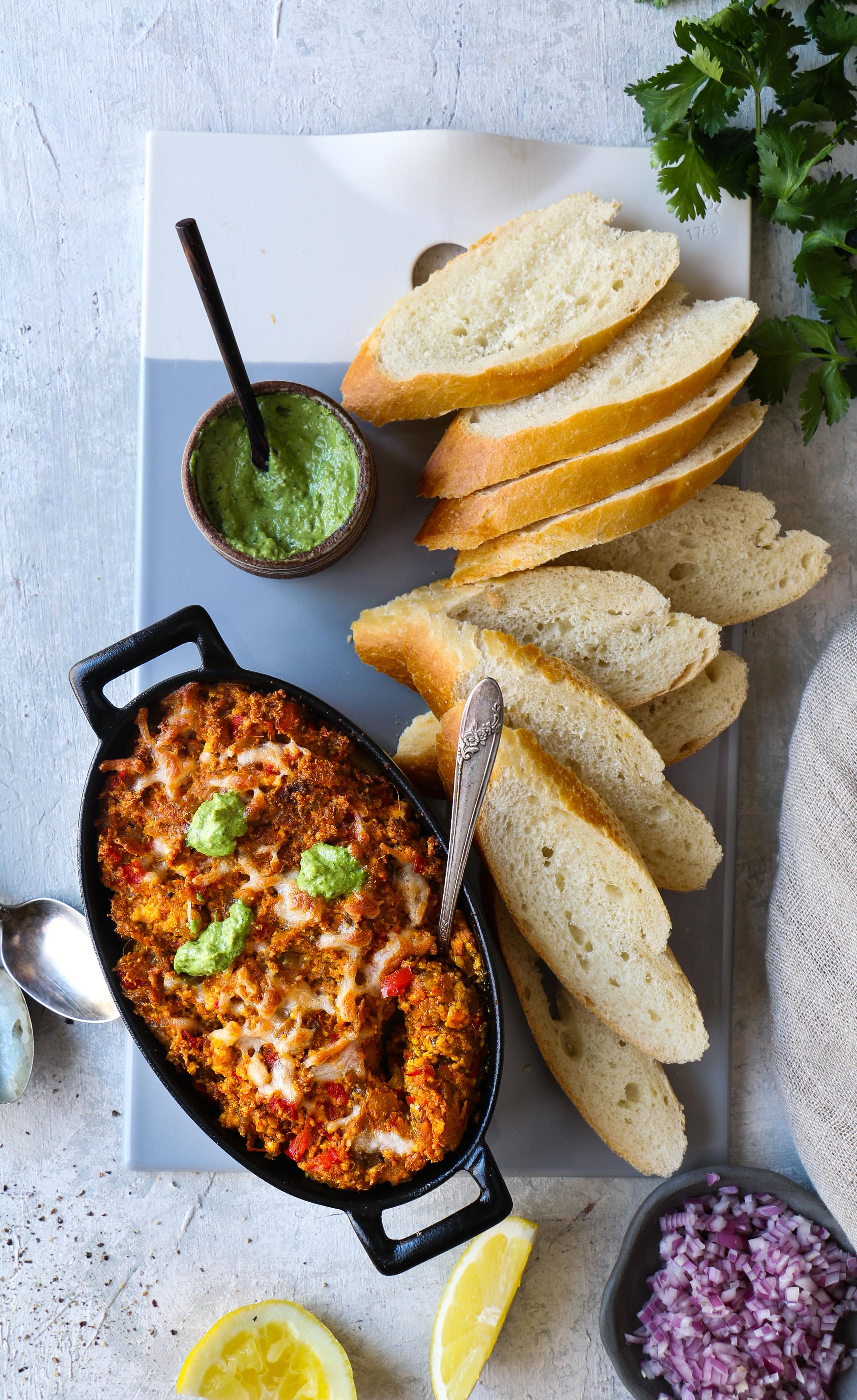 Paneer-Bhaingan Bhurji /Eggplant Cheese spread Bruschetta |foodfashionparty| #paneer bhurji