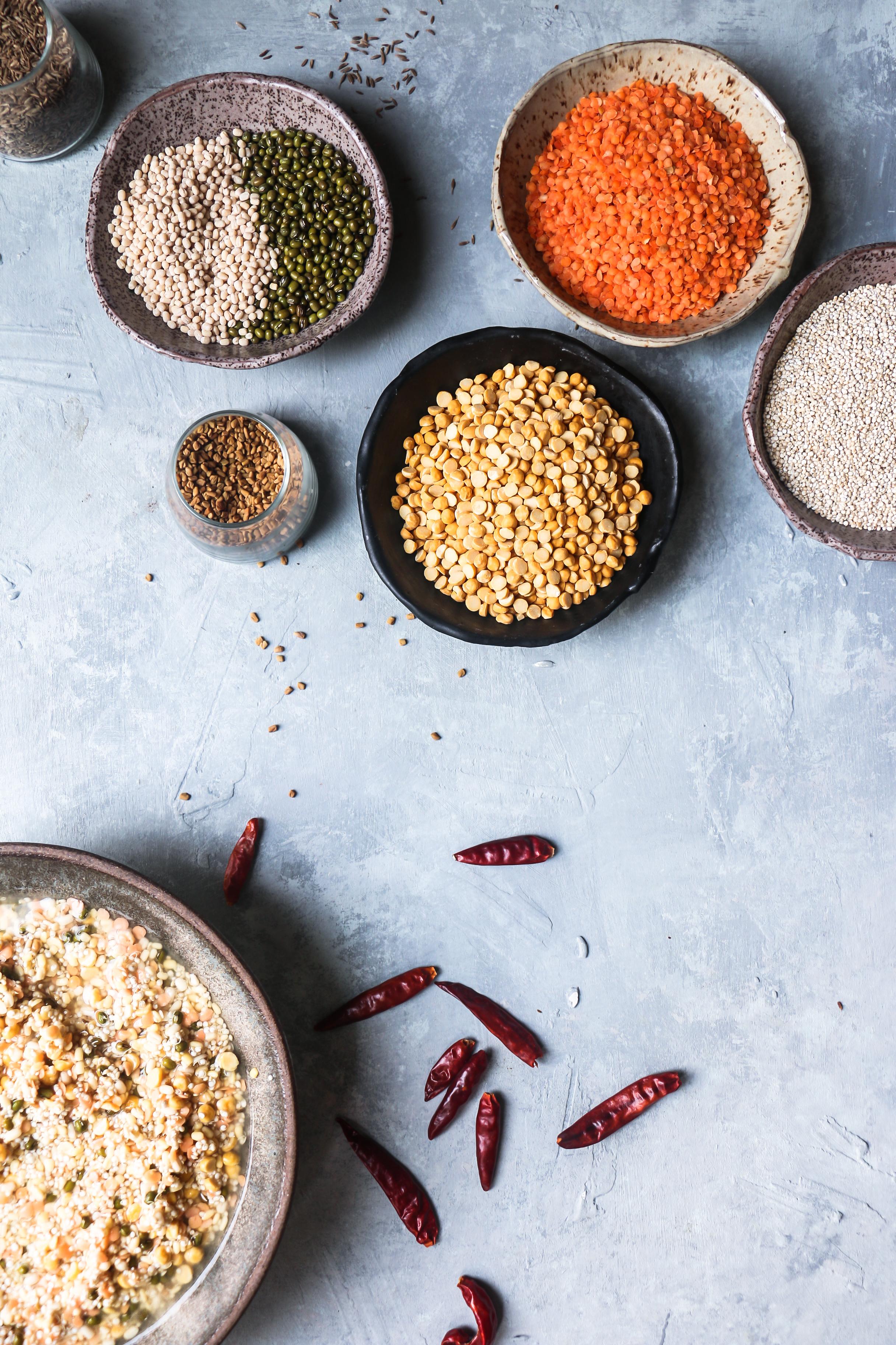Quinoa-legumes Dosa aka Quinoa Masala Adai (gluten free-vegan) |foodfashionparty| #dosa