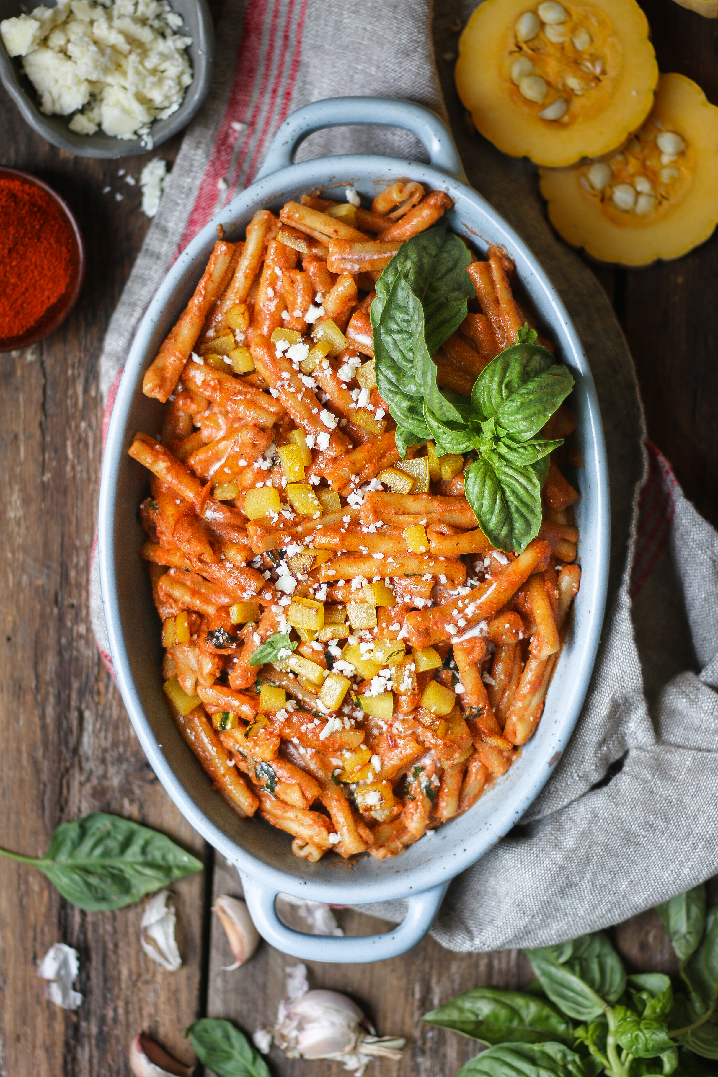 Cajun Spiced Pumpkin Pasta with Creamy Tomato Sauce |foodfashionparty| #pumpkinpasta #cajunpasta