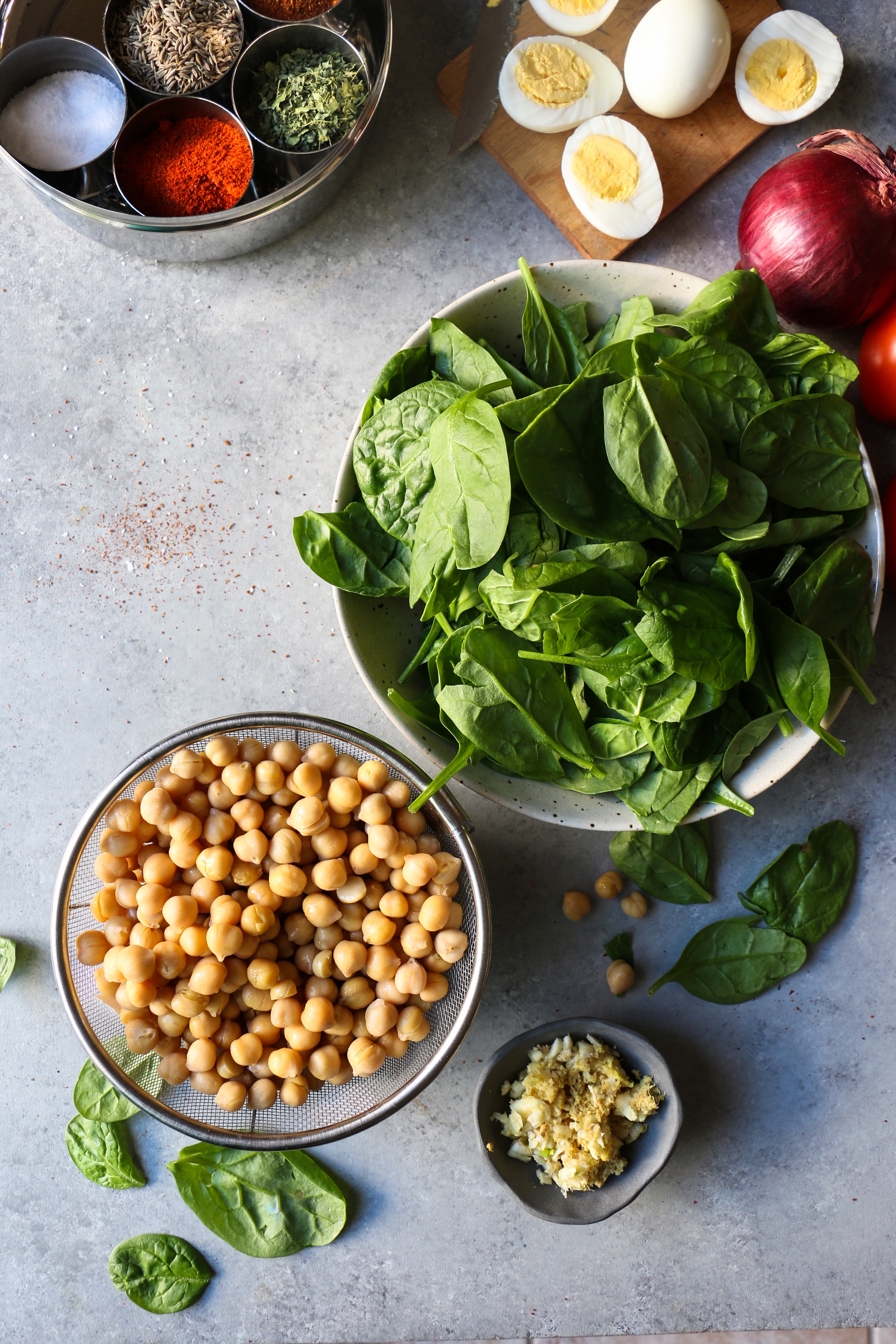 Quick Chickpea with Spinach Curry - 30 minute dish |foodfashionparty| #chickpeacurry #curry