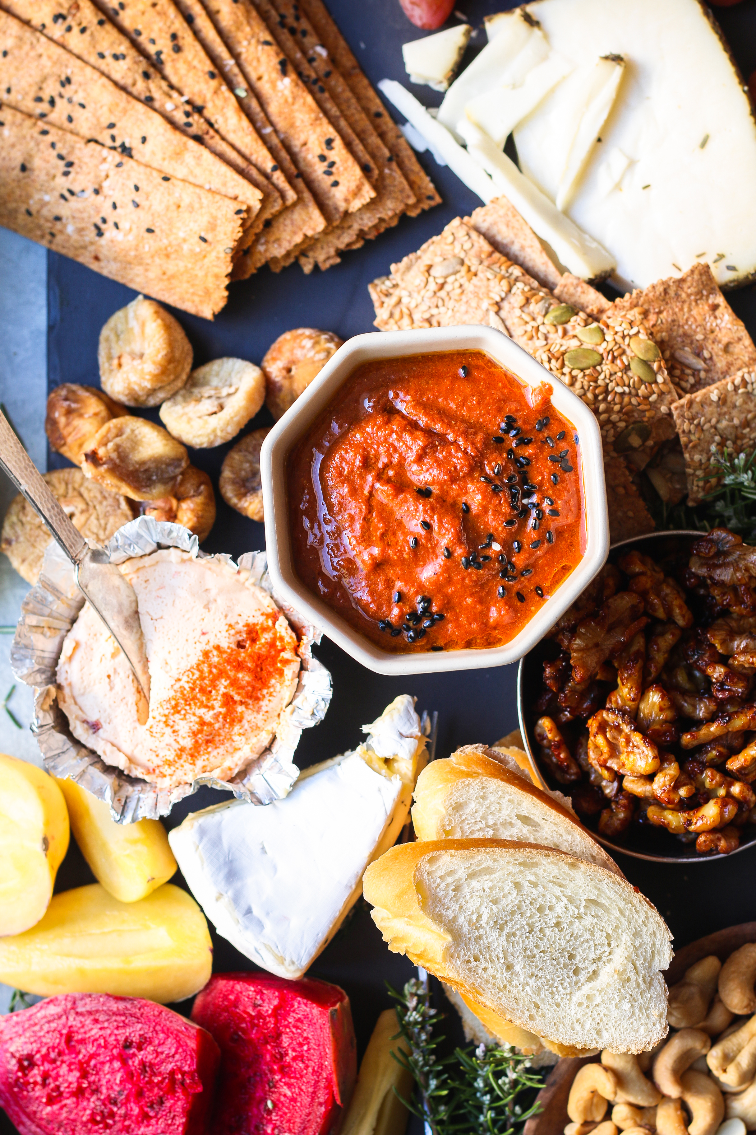 Perfect CHEESE BOARD - Roasted red bell pepper and Tomato Chutney |foodfashionparty| #cheeseboard #roastedtomatochutney