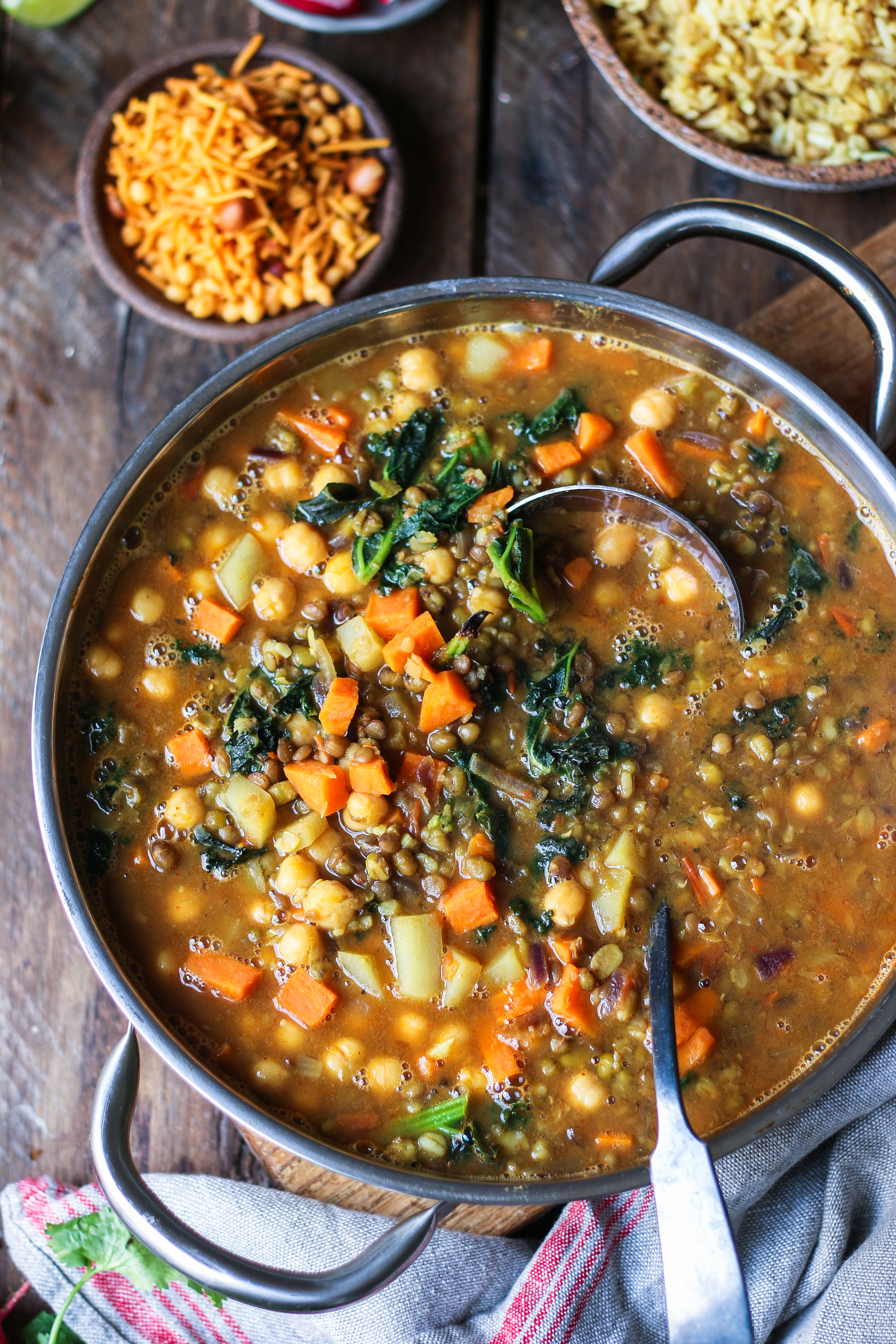 Vegan Healthy Vegetable Dal with Kale and Yam |foodfashionparty| #vegetabledal #vegandaal