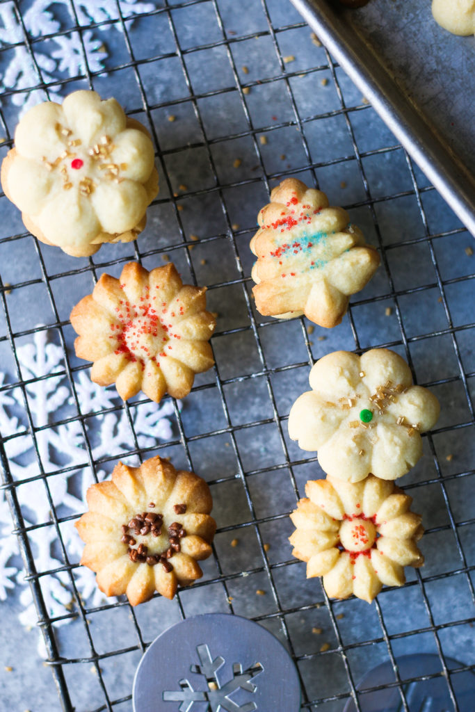 Classic Spritz Cookies - Lemon and Almond flavored cookies  foodfashionparty  #spritz cookies