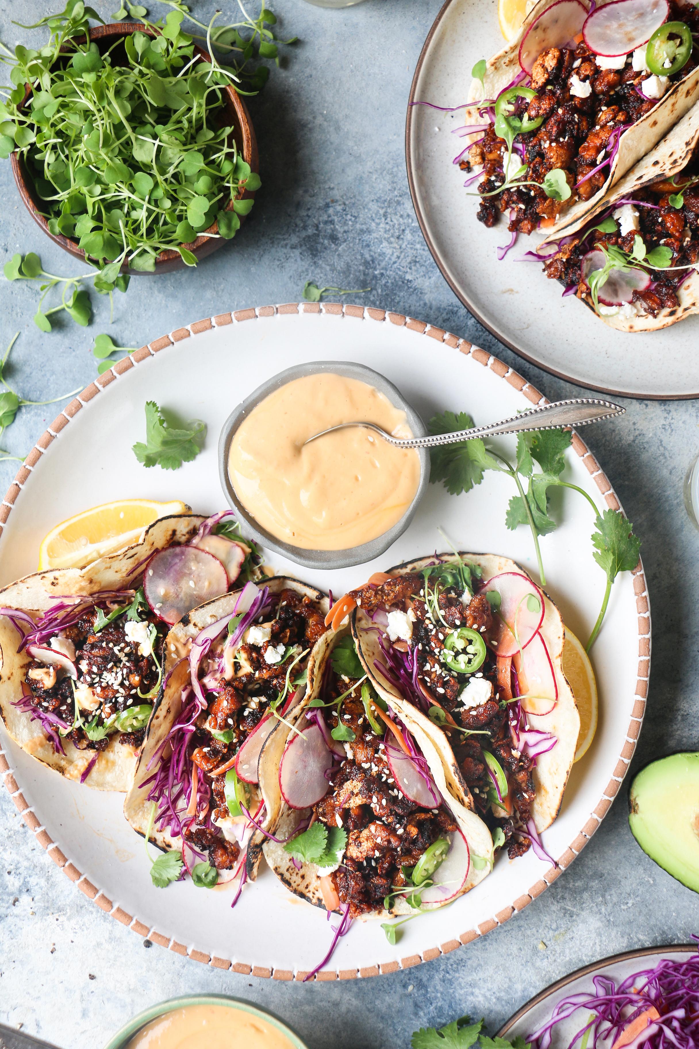 Crispy thai tofu Tacos with avocado cream |foodfashionparty| #thaitofu #tofurecipe