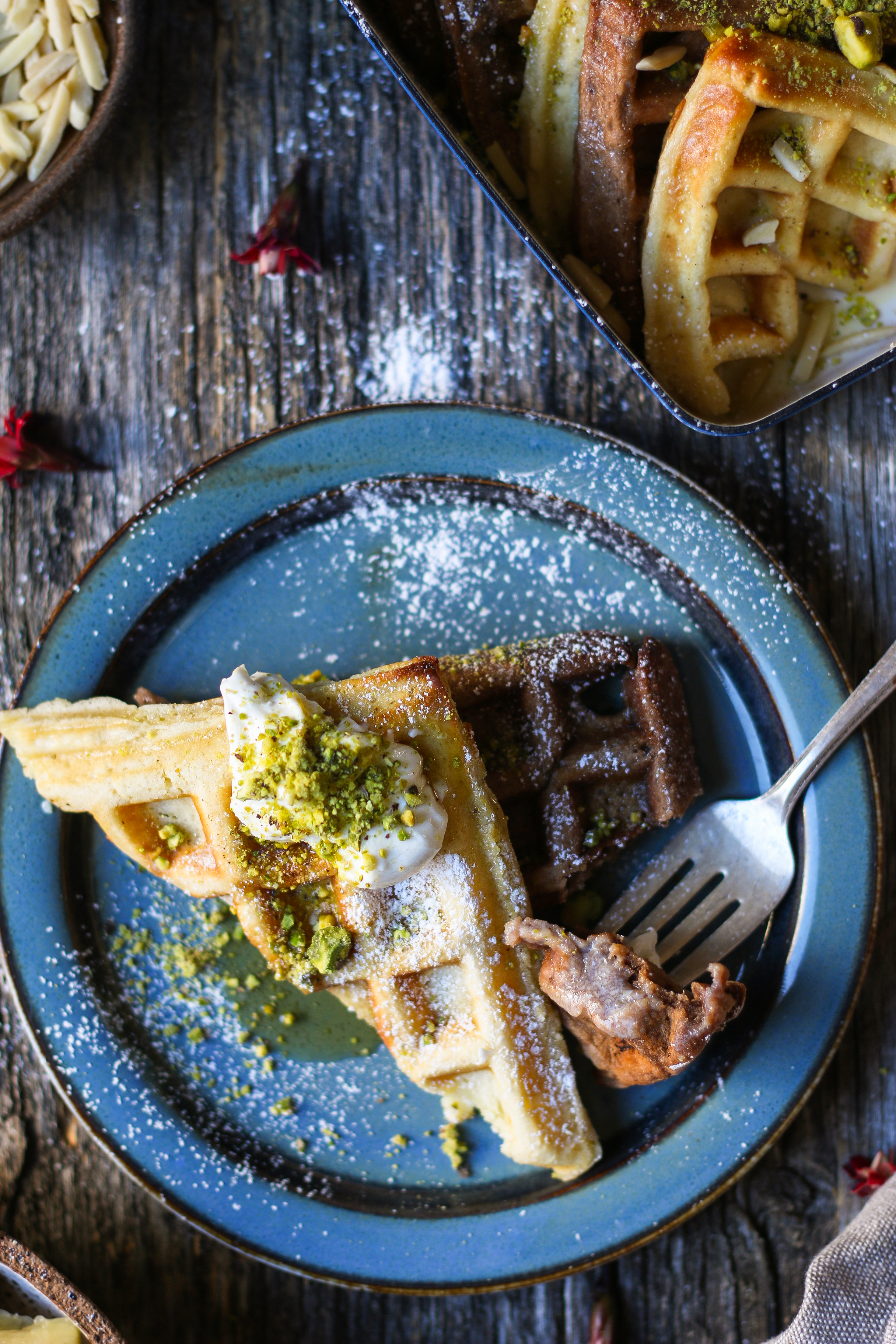Waffles French Toast with Maple Cream Cheese  foodfashionparty  #wafflefrenchtoast #Christmasbreakfast