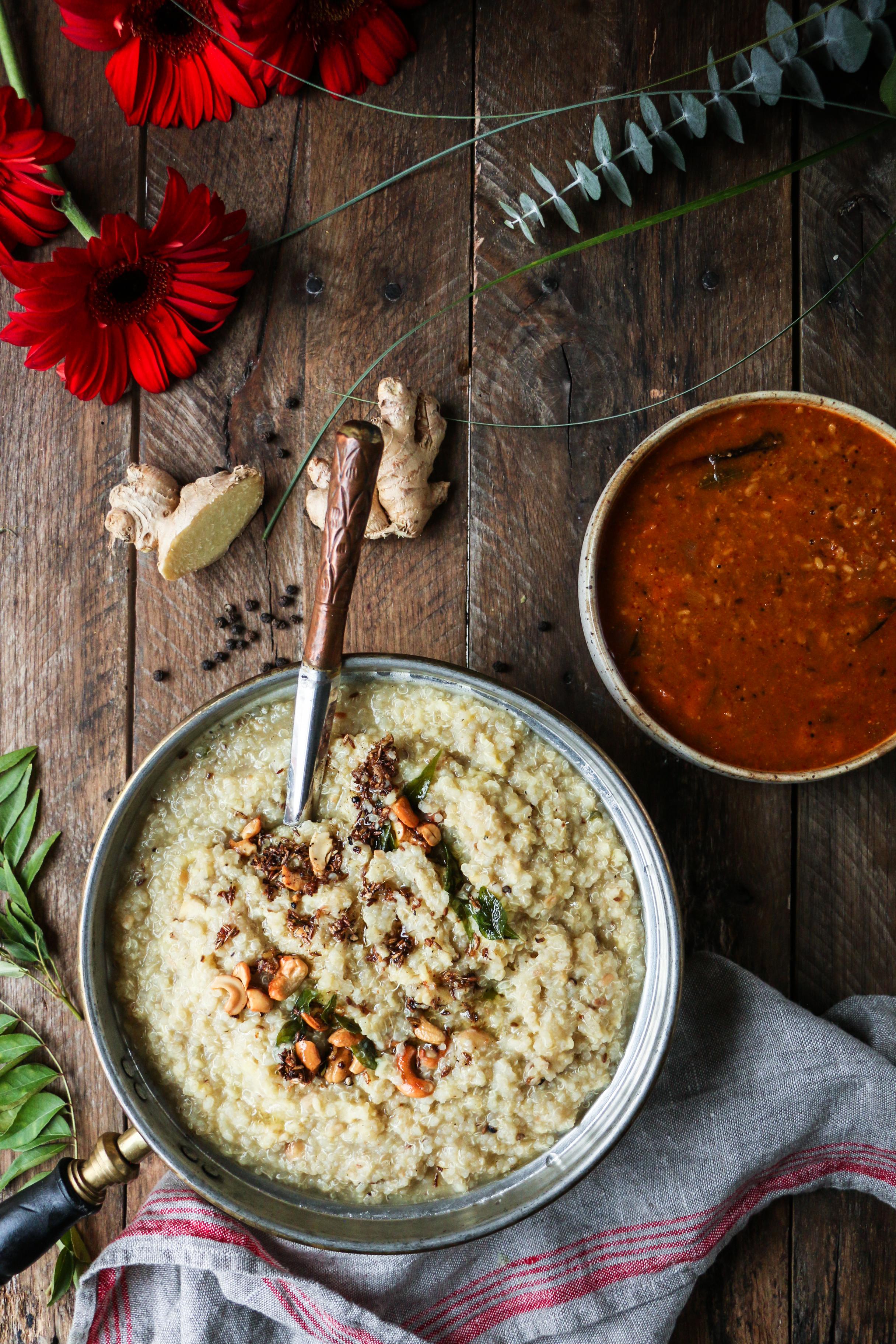Quinoa Ven/Khaara Ponga with Gotsu |foodfashionparty| #quinoaporride #healthyIndian