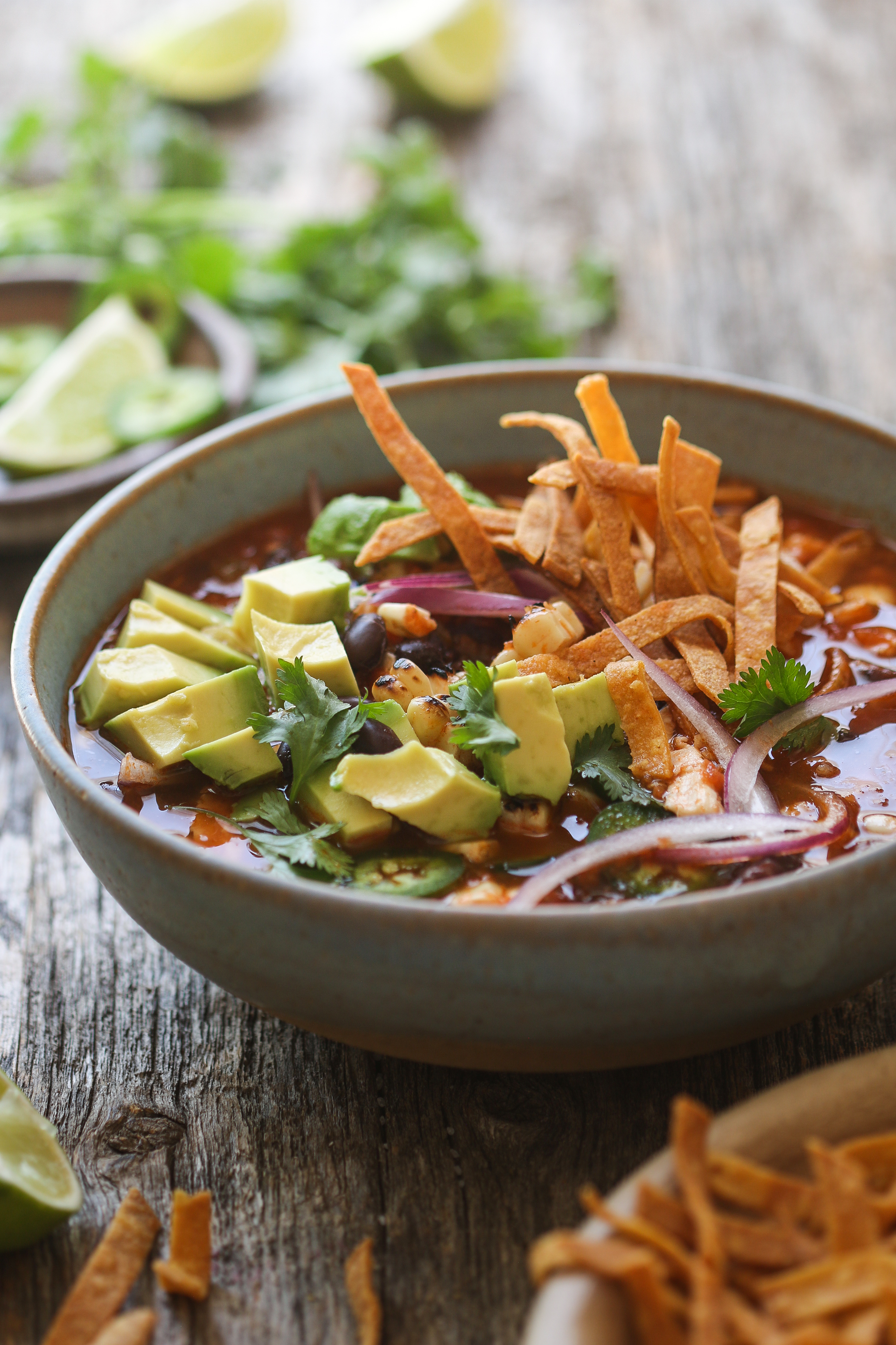 Shortcut Mexican Chicken Tortilla Soup - Delicious and Easy
